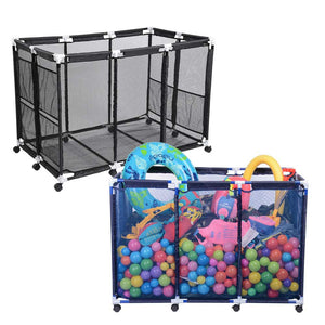 "Yescom Pool Float Storage Outdoor Rolling Bin 48""x30""x34"""