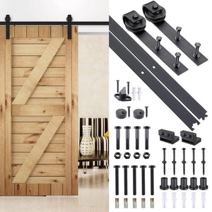 Yescom 6 ft Sliding Cabinet Barn Door Hardware Kit Wood Track