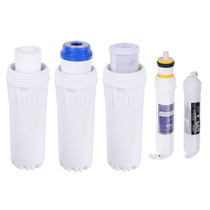 Yescom 5-Stage Water Filter System 50 GPD Reverse Osmosis Filtration