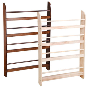 4 Tier Wood Wall Bookshelf Floating Shelf Rack Color Options