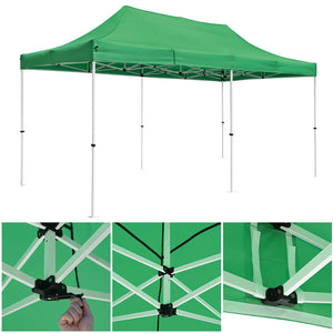 InstaHibit 10x20 ft Pop Up Canopy Comml. Instant Tent Color Options (Preorder)