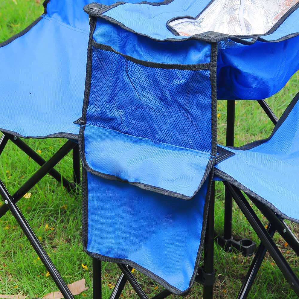 Outstanding Yescom Picnic Double Camping Chair W Umbrella Cooler Gmtry Best Dining Table And Chair Ideas Images Gmtryco