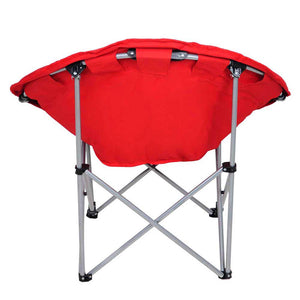 Yescom Oversize Red Folding Comfort Padded Moon Chair Saucer Chair