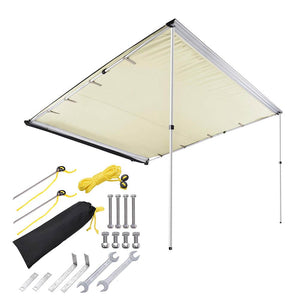 "Yescom Awning 8' 2"" x 7' 7"" Vehicle Rooftop Side Tent Shade"