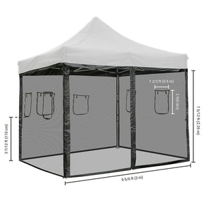 Yescom 10x10 Pop Up Canopy Netting Mesh Sidewalls