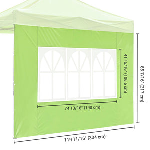 Yescom Canopy Tent Wall with Windows 1080D 10x7ft 1pc