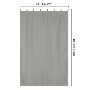 Yescom Outdoor Tab Top Curtain Panel, 54Wx84L