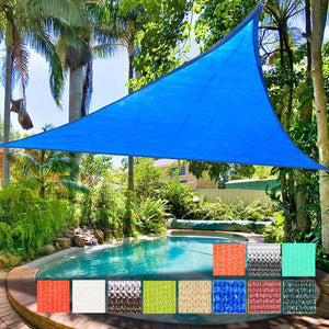 Yescom Patio Triangle Sun Sail Shade Canopy 16.5ft Color Optional