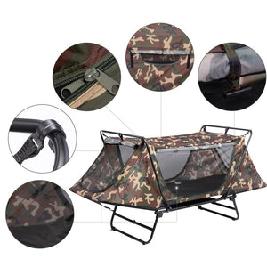 Yescom Tent Cot Camp Bed Tent Folding Off Ground Rain Fly Camouflage