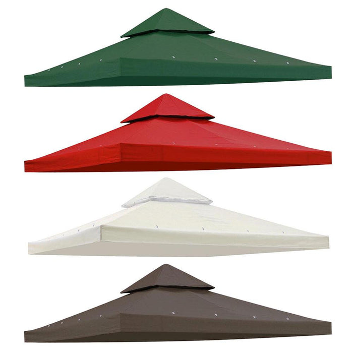 Yescom 10' x 10' Gazebo Replacement Canopy 2-Tier Color Optional