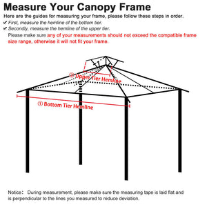 Yescom 10' x 10' Tan Canopy Replacement Top for Gazebo (Preorder)