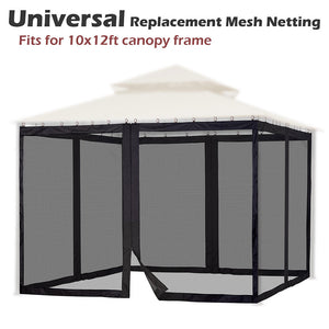 Yescom 41.2'R x 6.4'H Gazebo Mosquito Netting for 12'W x 10'D Gazebos