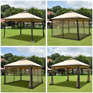 Yescom 11'x11' Ez Pop Up Canopy Gazebo Tent with Sidewalls Net