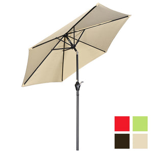 Yescom 7.5ft Patio Umbrella Crank and Tilt 6-Rib
