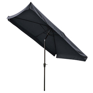Yescom 10x6.5 ft Patio Rectangular Market Umbrella Tilt Multiple Colors