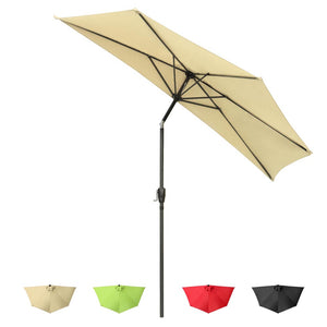 Yescom 10 ft Patio Outdoor Market Half Tilt Umbrella