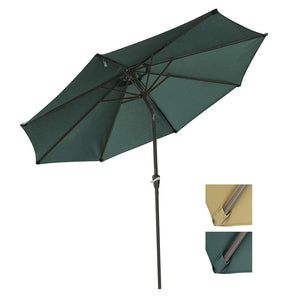 Yescom 9ft 8-Rib Patio Tilt Market Umbrella w/ 200gsm Canopy Color Options