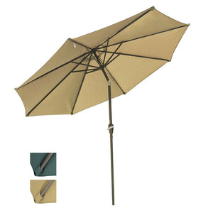 Yescom 10ft 8-Rib Patio Tilt Market Umbrella w/ 200gsm Canopy Color Options