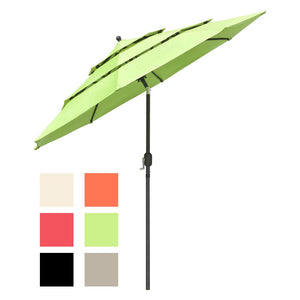 Yescom 9ft 8-Rib Patio Outdoor Market Umbrella 3-Tiered Tilt