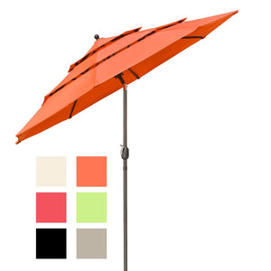 Yescom 10ft 8-Rib Patio Outdoor Market Umbrella 3-Tiered Tilt