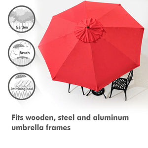 Yescom 9' Outdoor Market Umbrella Replacement Canopy