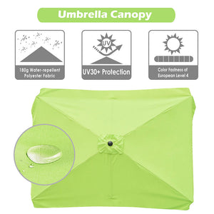 Yescom 10x6.5ft Canopy Replacement for Patio Rectangle Market Umbrellas