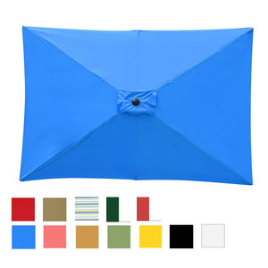 Umbrella Replacement Canopy 10x6.5ft 6-Rib Rectangle