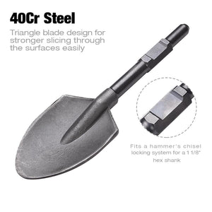 "Yescom Electric Jack Hammer Pointed Clay Spade Shovel Bit 1-1/8"" Hex Steel"