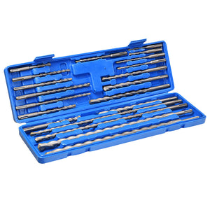 Yescom Rotary Hammer SDS Plus Drill Bit Set 20 Pieces w/ Case