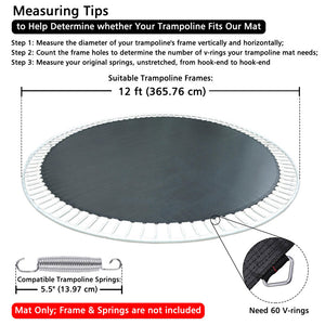 Yescom Trampoline Mat with Rings for 12 Foot Round Frame