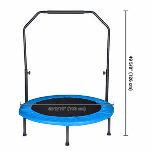 Yescom 3.3 ft Mini Trampline Foldable Rebounder with Handle