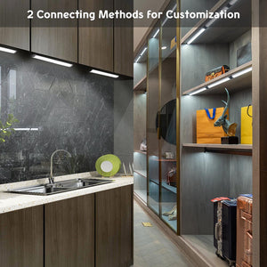 Yescom 3pcs Dimmable Under Cabinet Light Fixtures w/ Remote
