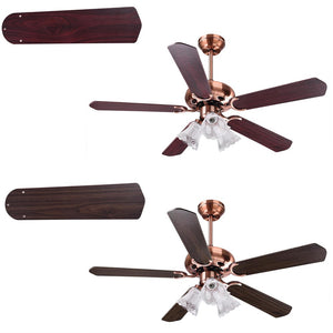 "Yescom 48"" Ceiling Fan with 3 Lights Remote 5-Blade"