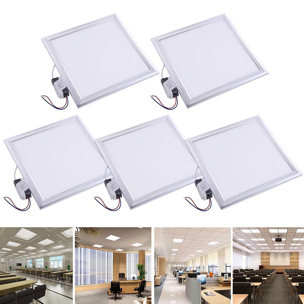 Delight 5x 12w square smd led recessed ceiling light w driver
