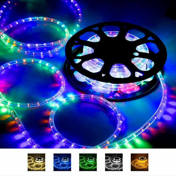 Yescom Holiday Lighting LED Rope Light Spool 50ft