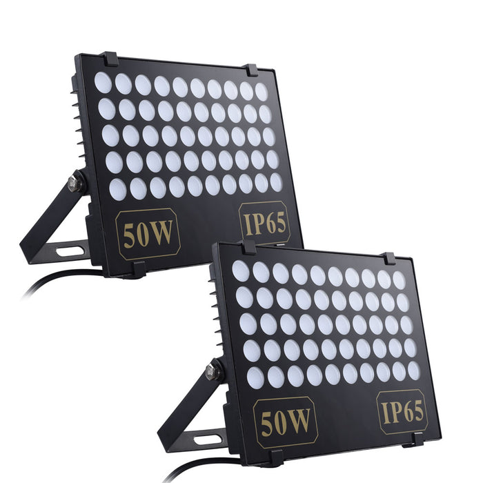 Yescom LED Blacklight Floodlights Party Lights IP65 50W, 2pcs