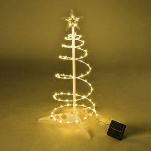 Yescom 2' Pre-Lit Spiral Christmas Tree Solar Operated