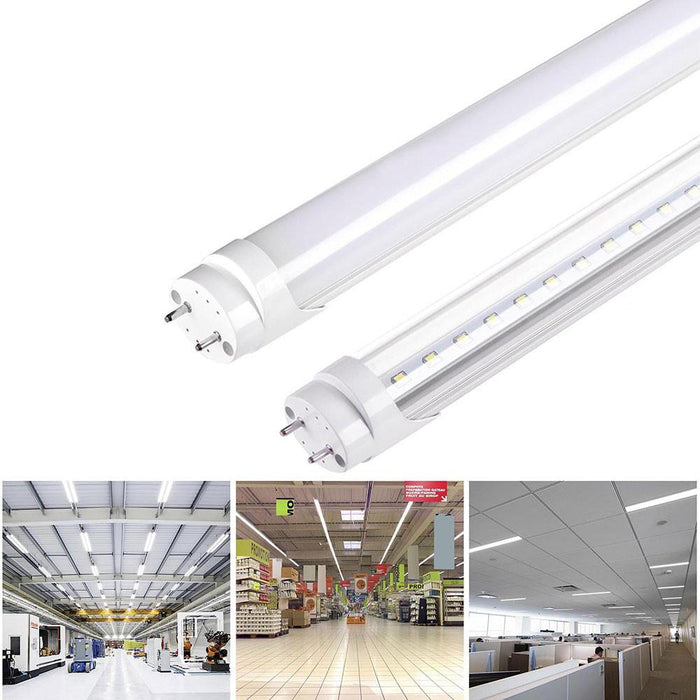 Yescom 4ft 18w T8 LED Tube Light Replacement Fluorescent Lamp Milky/ Clear