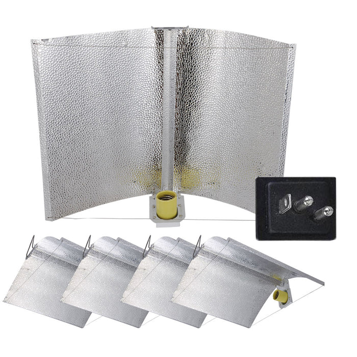 "Yescom 5-Pack Hydroponics Reflector Hood 27""x18"" Exlarge Wing Grow Lights"