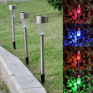 Yescom 24x Solar Landscape Light Color Change Outdoor Path Silver