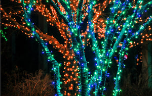 Yescom 100LEDs Solar Patio Chrismas Holiday String Light Blue