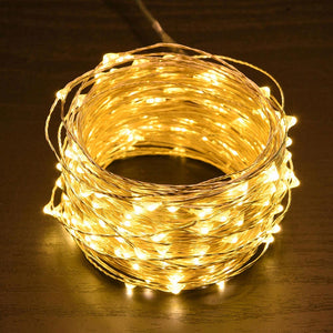 Yescom Copper String Light Christmas Lights Battery Powered 66ft