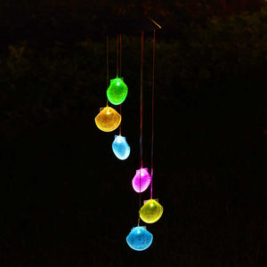 Yescom Solar LED Wind Chime Color Changing Decor Light Shell