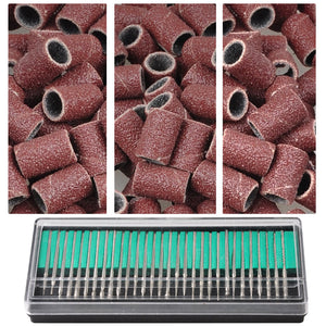Yescom Manicure Pedicure Nail File Drill Bits Sanding Bands