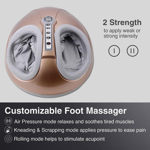 Yescom Foot Massager with Heat White/ Golden