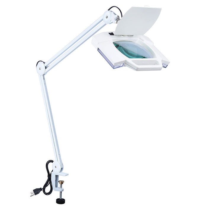 Yescom Magnifying Desk Lamp w/ Clamp 5x Square Tabletop