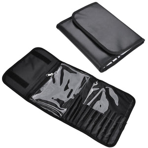 AW Makeup Train Case Cosmetic Storage Bag Black 1200D 17""