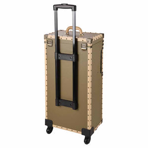 Byootique XL Rolling Makeup Lockable Hair Stylist Train Case Bronze (Preorder)