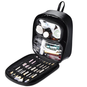 Byootique Makeup Artist Backpack w/ 4 Clear Pouches