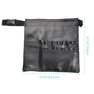 Yescom Makeup Brush Belt Waist Bag PU Brush Organizer 18 Slots